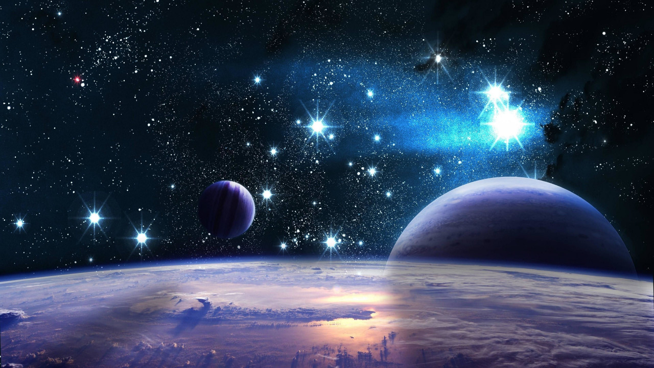 Space planets stars hd wallpaper
